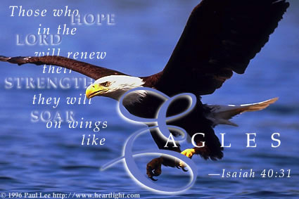 Isaiah 40 Soar on wings of Eagles