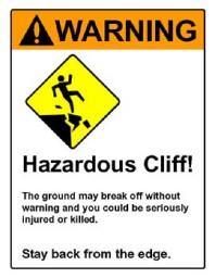 Danger Fall off Cliff - Stumbling Blocks - 1 Corinthians 8
