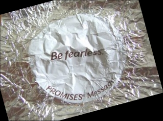 "Be Fearless - Dove Chocolate Wrapper - ""Be Fearless."" - My Sweet Message from Dad"