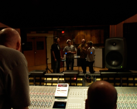 The Witnesses in the Recording Studio March2008